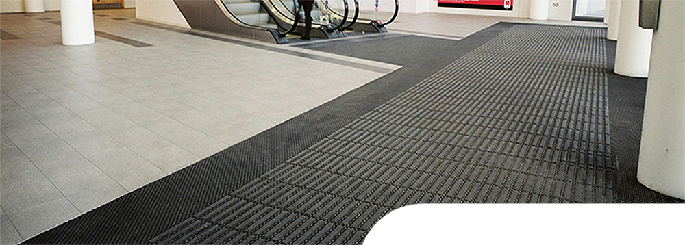 Snap Trax Tile at the entrance