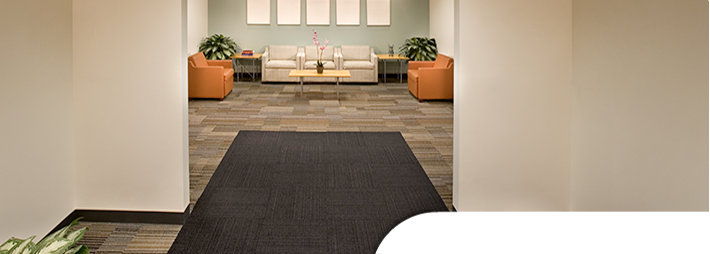 Windsor carpet tile flooring in a waiting room