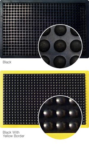 Bubble mat in yellow and black